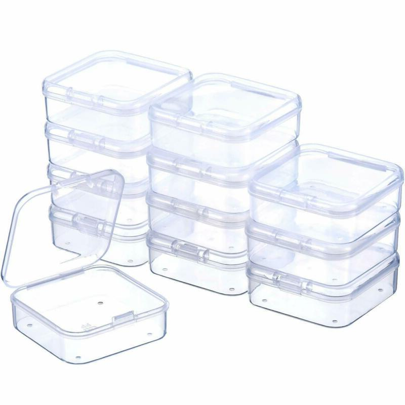 Small Rectangle Clear Plastic Lightweight Containers Storage