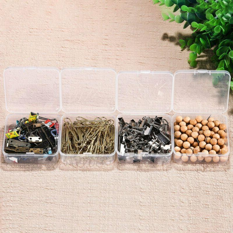 Small Rectangle Clear Plastic Lightweight Containers Storage Box