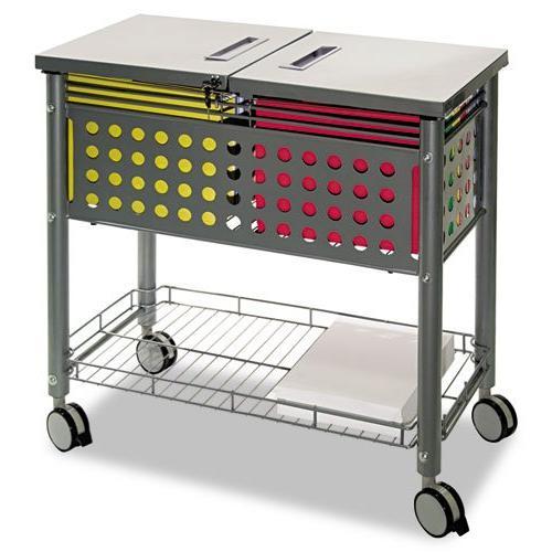 Vertiflex SmartWorx Sidekick File Cart - 4 Caster - Steel -