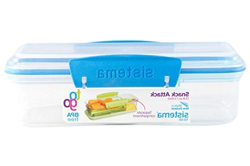 Sistema Snack Attack To Go 410ml 13.86oz Two compartments Container,