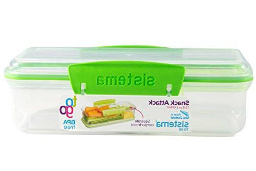 Sistema Snack Attack Go Two Lunch Container, 2-Pack