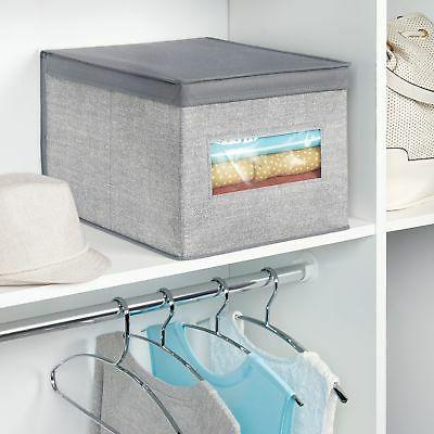 mDesign Fabric Closet Storage with Clear