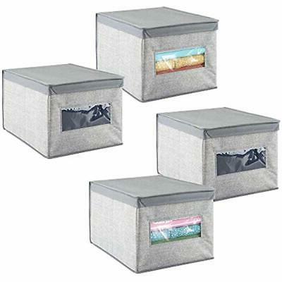 soft fabric stackable closet storage organizer box
