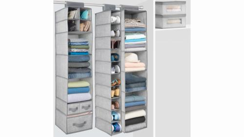 mDesign Fabric Stackable Closet Box