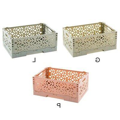 Stackable Desktop Basket Sundries Foldable Organizer Box For Home