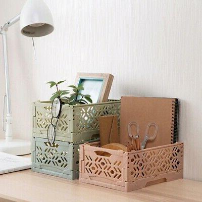 Stackable Desktop Basket Sundries Foldable Box For Home