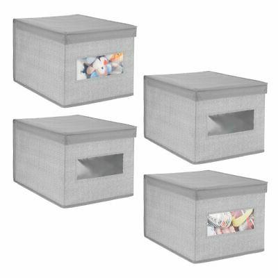 mDesign Fabric Closet Storage Organizer Box,