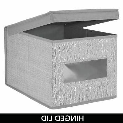 mDesign Stackable Storage Box, Lid
