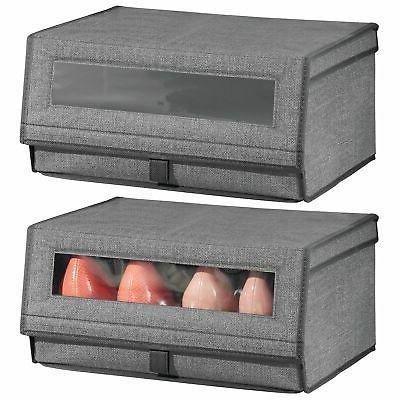 mDesign Closet Storage Box Large
