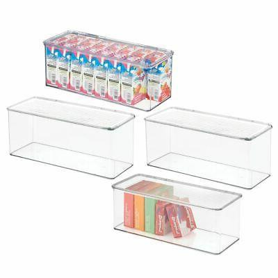 stackable plastic kitchen food storage bin box