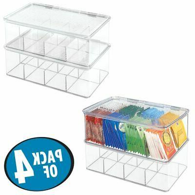 mDesign Stackable Tea Bag Organizer Kitchen Box