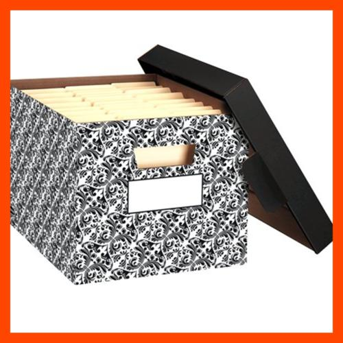 Bankers STOR/FILE Decorative Medium-Duty Boxes, Lift-Off 4