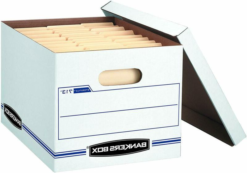Bankers Box Stor/File Storage Boxes, Standard Set-Up, Lift-O