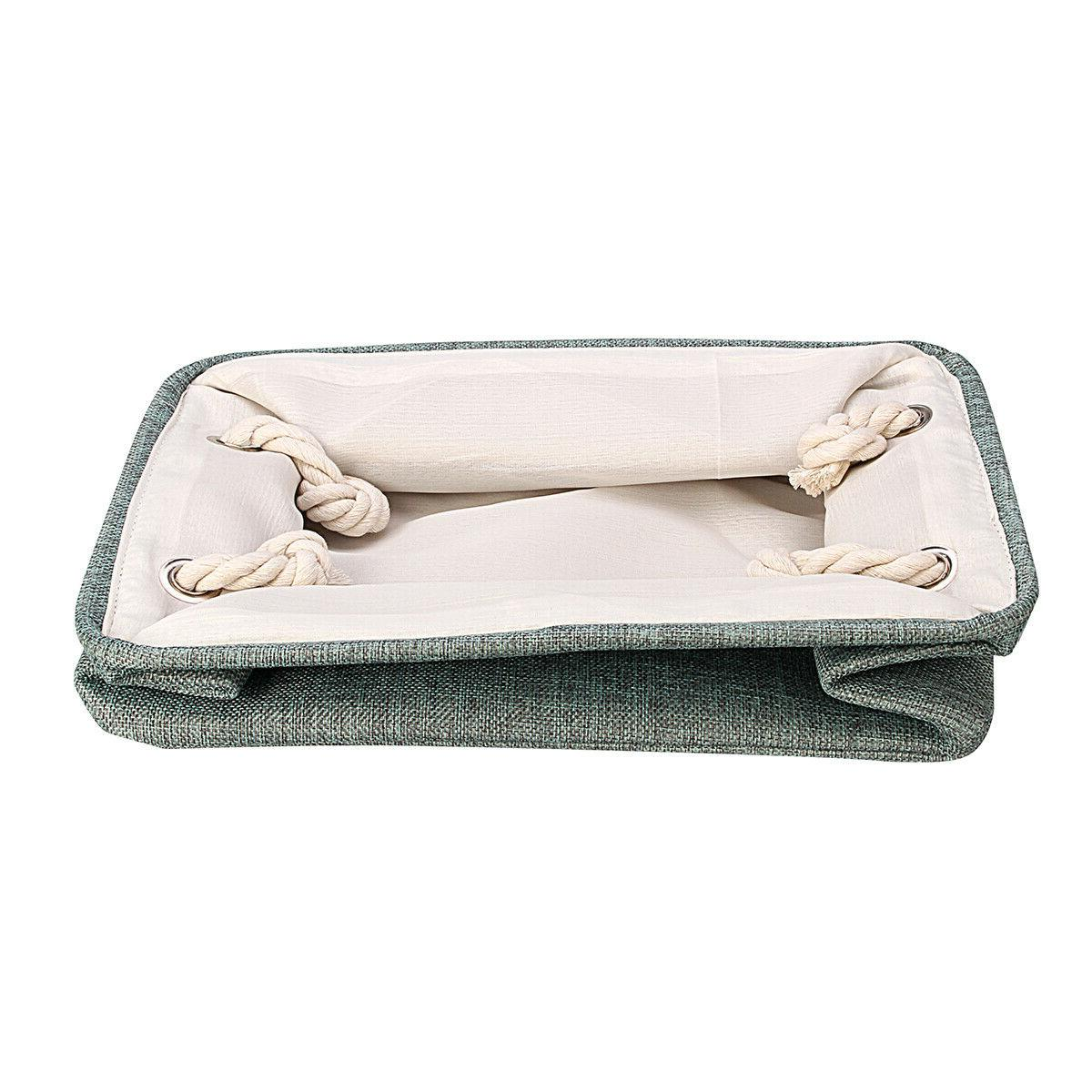 Storage Box Linen Fabric Container Household