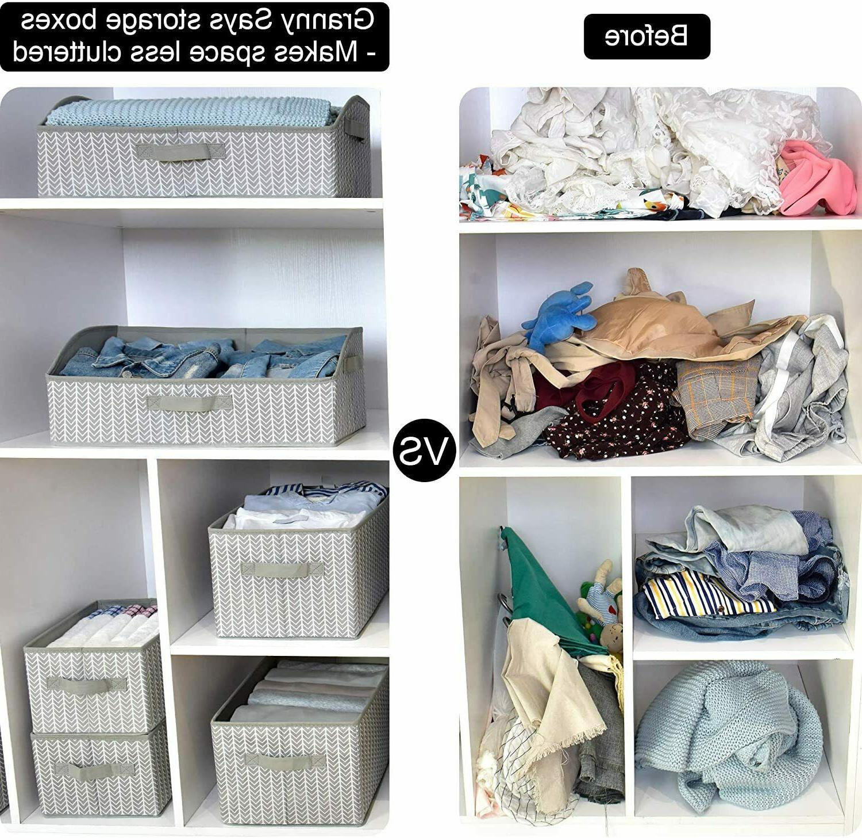 Storage Bin Fabric Shelf Cube Box,