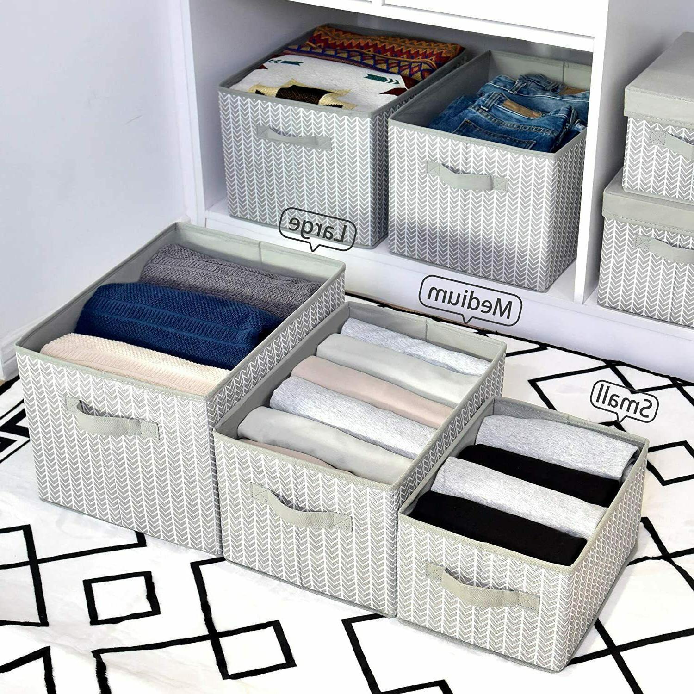 Storage Fabric Cube Box,