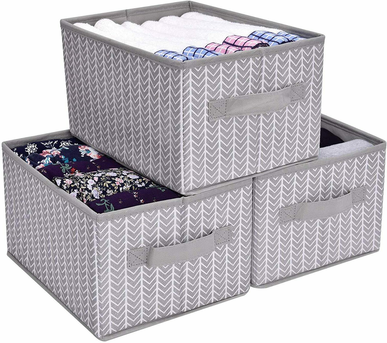 storage bin for shelves fabric closet organizer