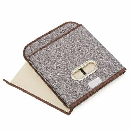 EZOWare Bins Linen Fabric Foldable Organizer Boxes