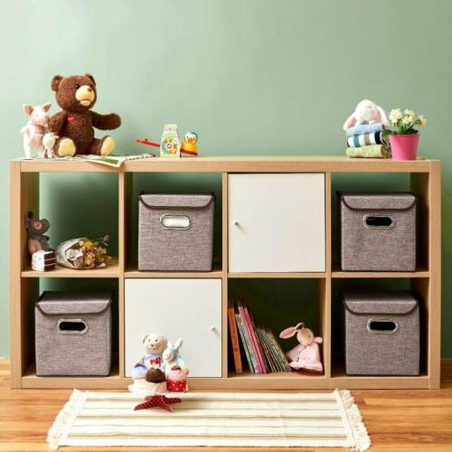 EZOWare Storage Fabric Basket Cubes Organizer