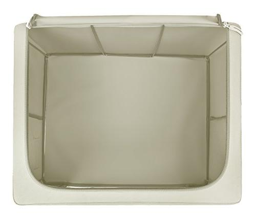Sorbus Storage Boxes, Foldable Basket Set Large Clear Window Carry Clothes