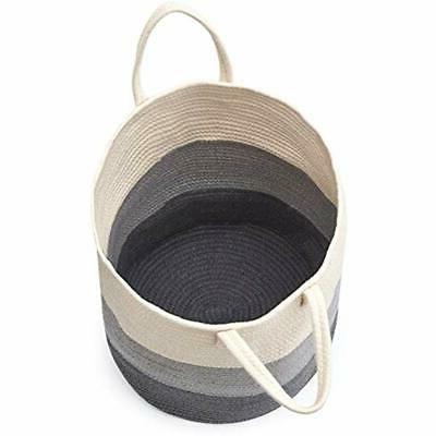 Storage Boxes EZOWare Cotton Laundry Hamper, Soft With -