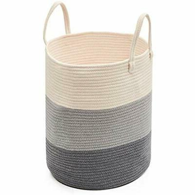 storage bins and boxes large cotton rope