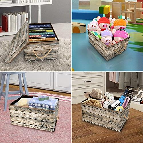 Livememory Bins Stackable Storage and Bedroom,