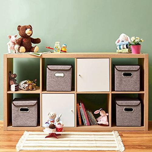 Storage Fabric Basket with For Office Nursery Shelf