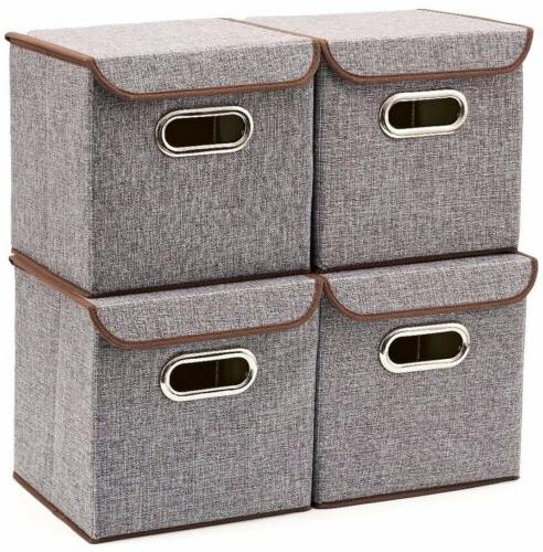 Closet Office 2 Pack Stackable Storage Bins with Lids and ...
