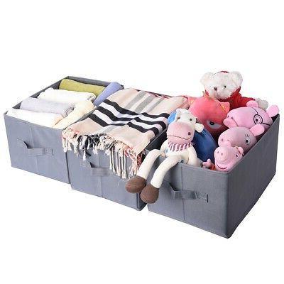 Storage Bins, Set Three Foldable Storage without Lid ,Storage Basket Set