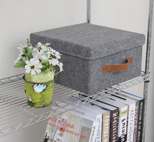 ITIDY Soft Felt Bins Lids, Foldable Storage