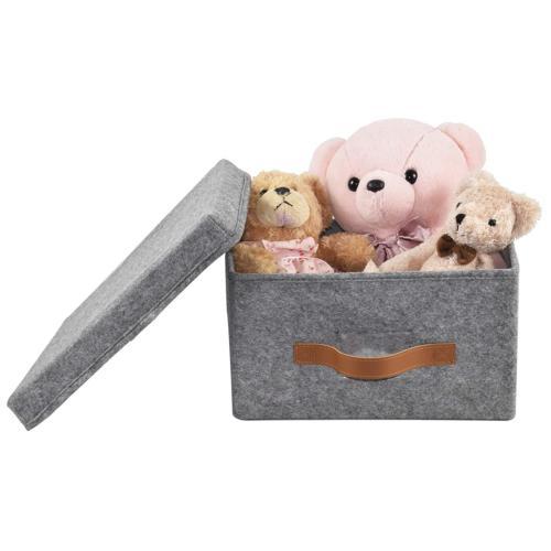 ITIDY Storage-Box, Soft Felt Bins Lids, Foldable