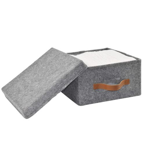 ITIDY Soft Bins with Lids, Foldable