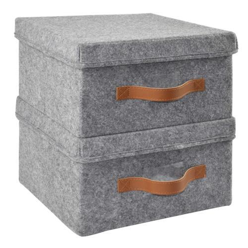 storage box 2pk super soft felt bins