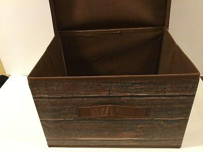 STORAGE BOX FORDABLE POLYESTER WOOD