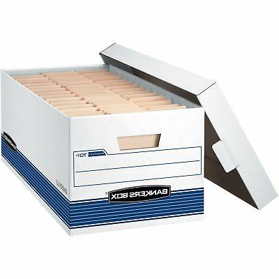 Fellowes Storage Boxes w/Lid 650 lb Letter 12