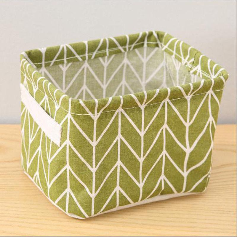 Canvas Desktop Cosmetic Basket