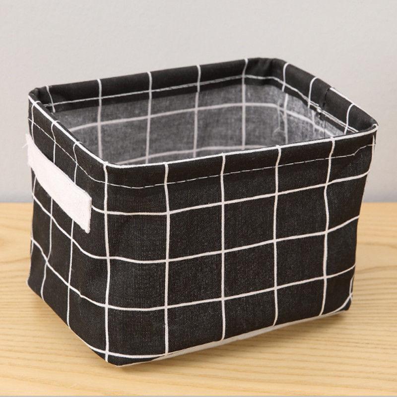 Canvas Desktop Basket Bag