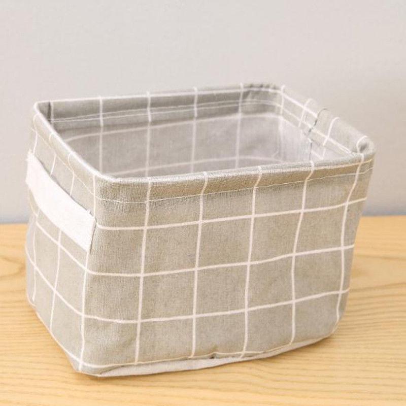 Canvas Boxes Desktop Cosmetic Organizer Basket