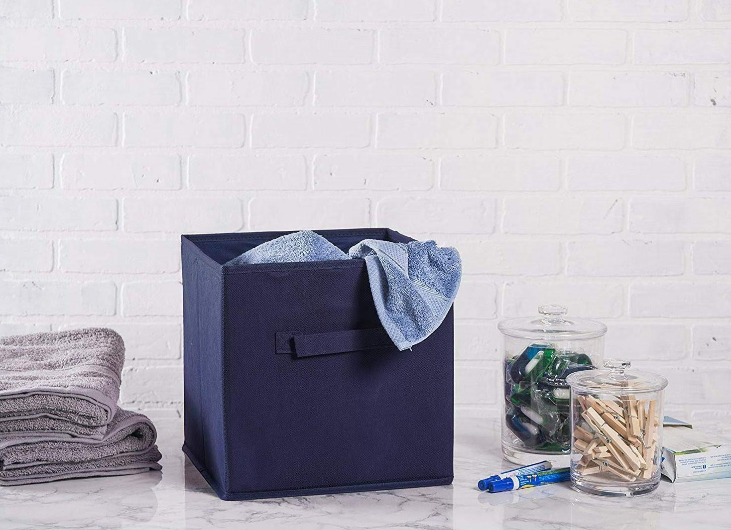Storage Organizer Container Bin Basket Drawer Colors 2 Pack