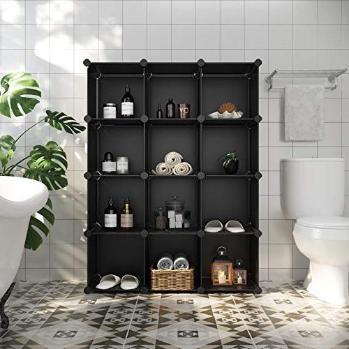 9-Cube Closet Storage DIY Modular Bookcase, Storage for Office,