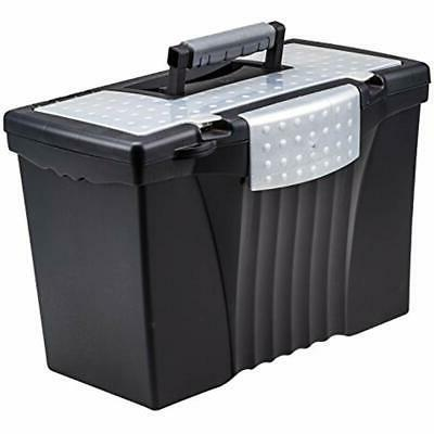 storage file boxes portable with organizer lid