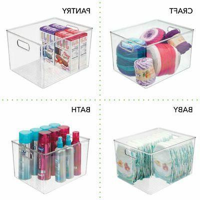 mDesign Storage Organizer Bin with - Cube Furniture -