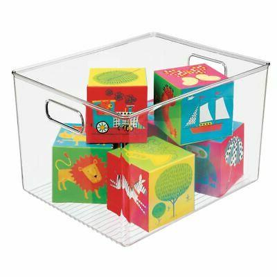 mDesign Storage Organizer Bin with Handles - for Cube Furnit