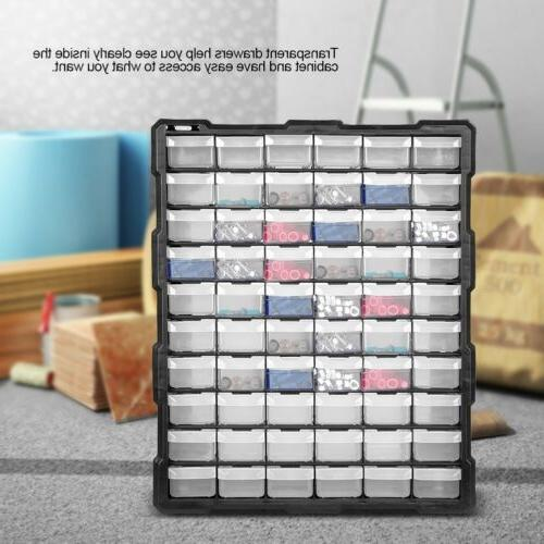 Storage Cabinet Plastic 39/60 Hardware Bin Garage