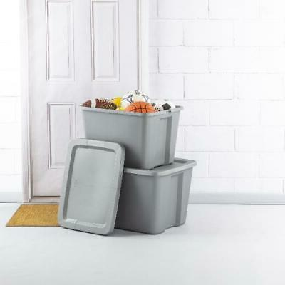 18 Gallon Tote Box Case Pack Storage Bin Container Stackable
