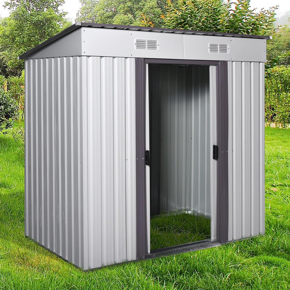 4' 6' Outdoor Storage Utility Tool Backyard Lawn