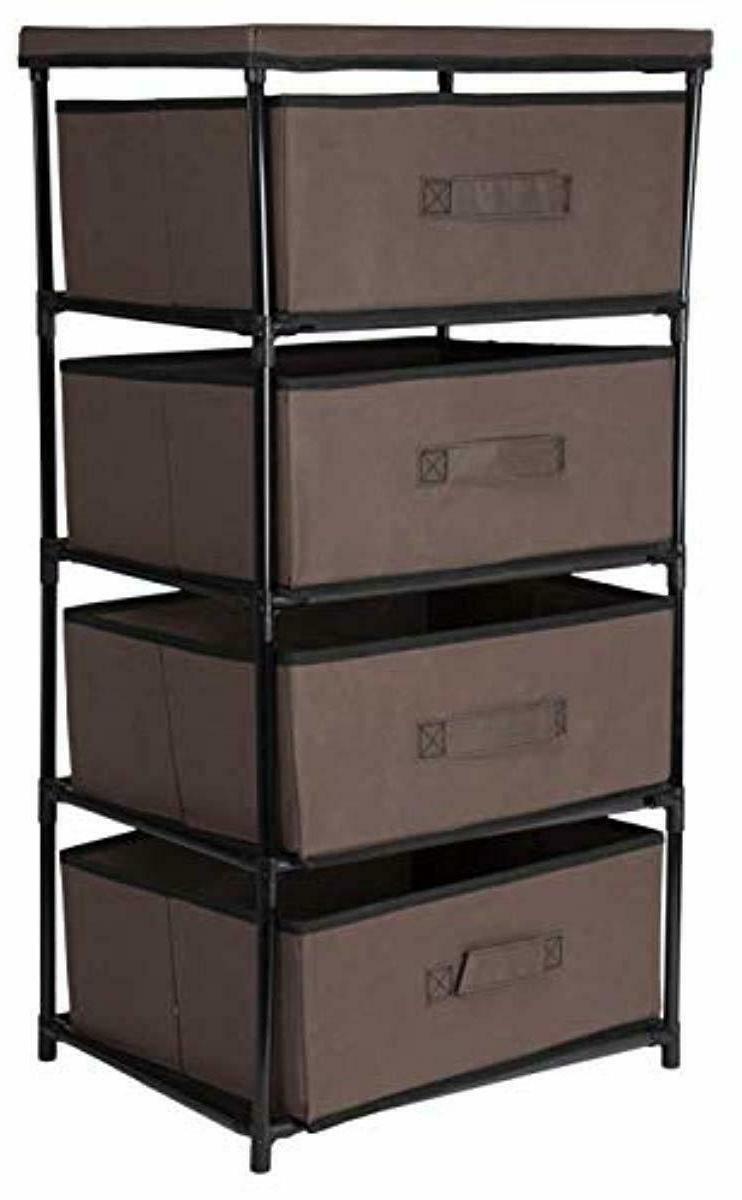 Storage Tower 4 Bin Organizer Box Bedroom New