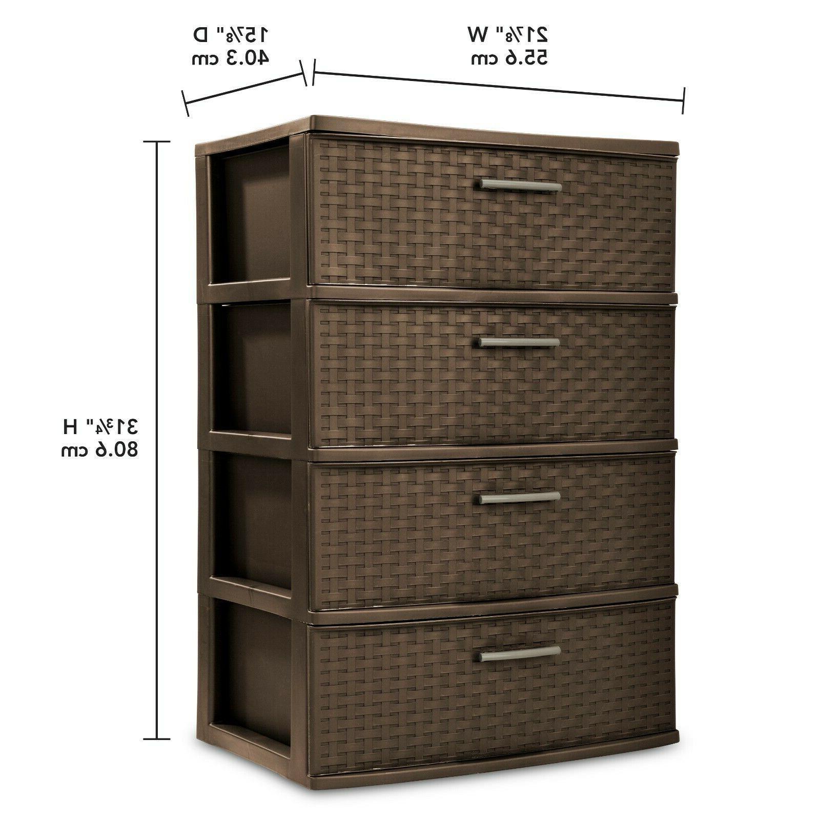 Storage Drawer Plastic Box Espresso