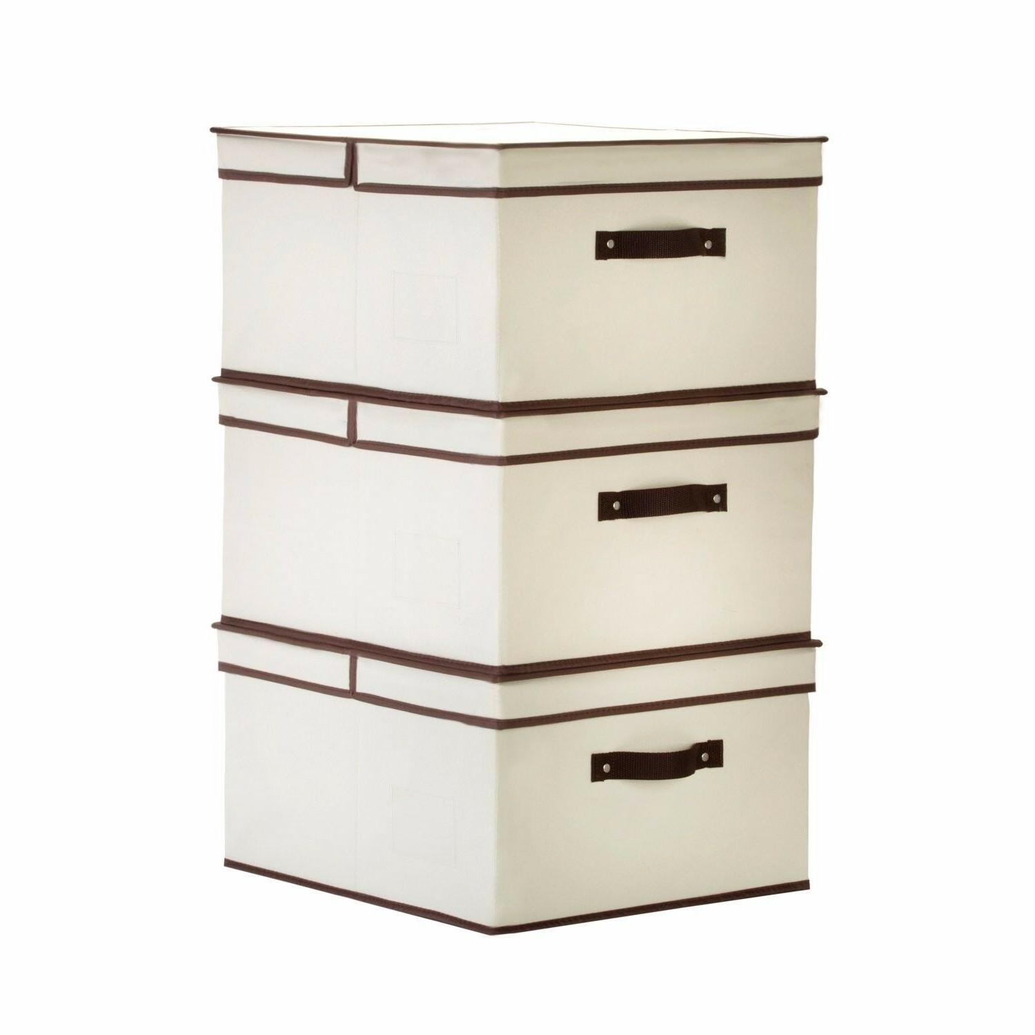 StorageWorks Polyester Canvas Box with Closet